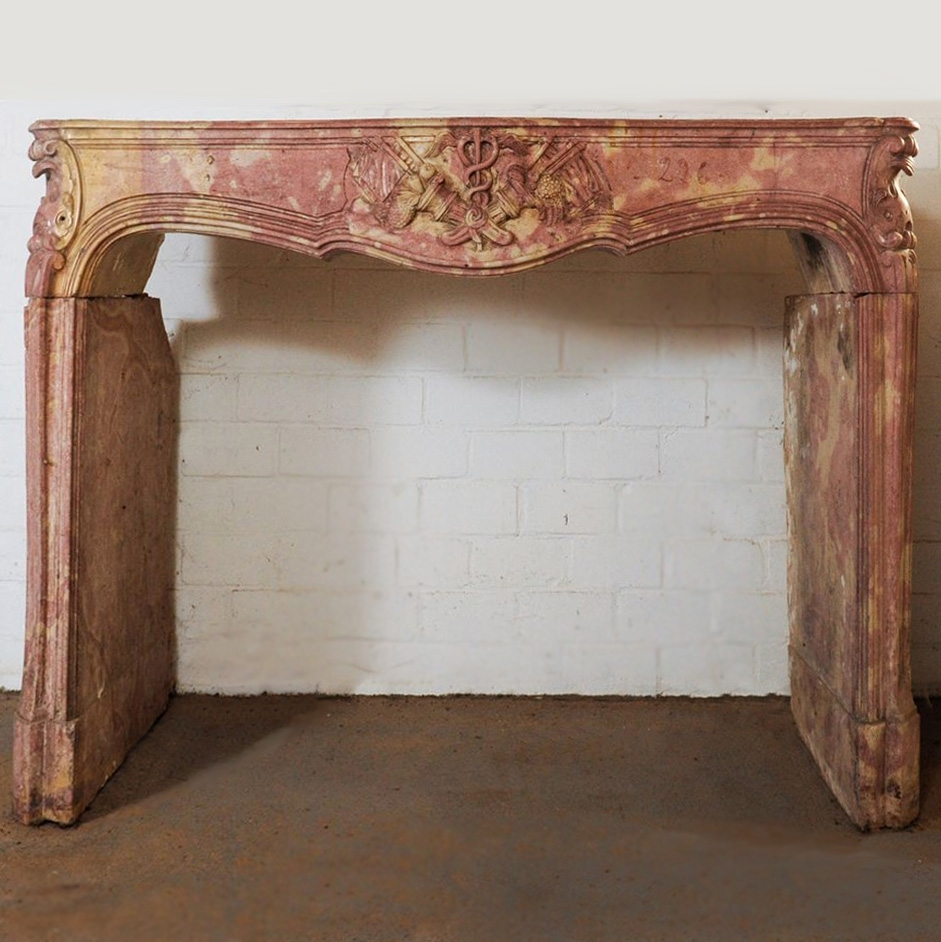 Zeldzame 18e-eeuwse Franse barok schouw