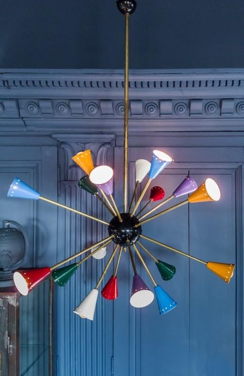 Vintage Design Stillnovo Style Sputnik Spider Lamp uit de jaren 60