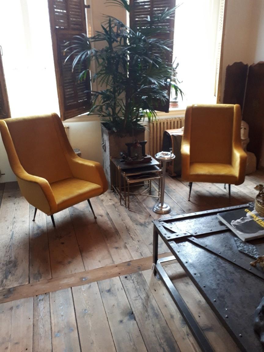 Stel vintage stoelen