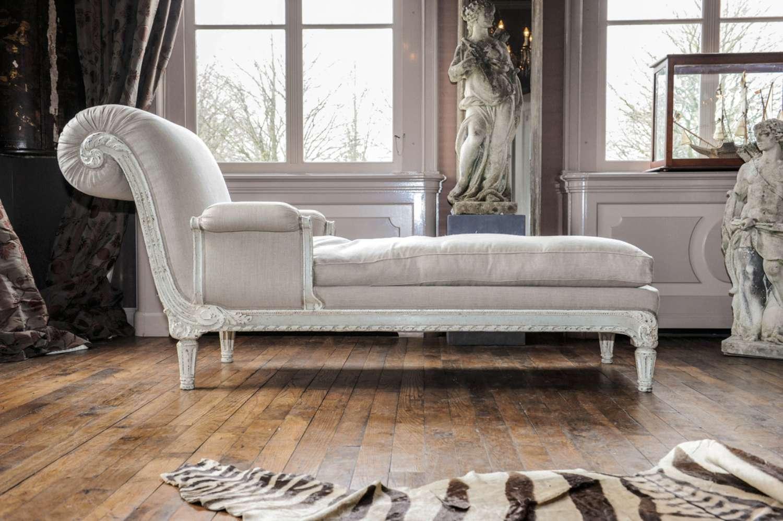 Antieke Franse chaise longue