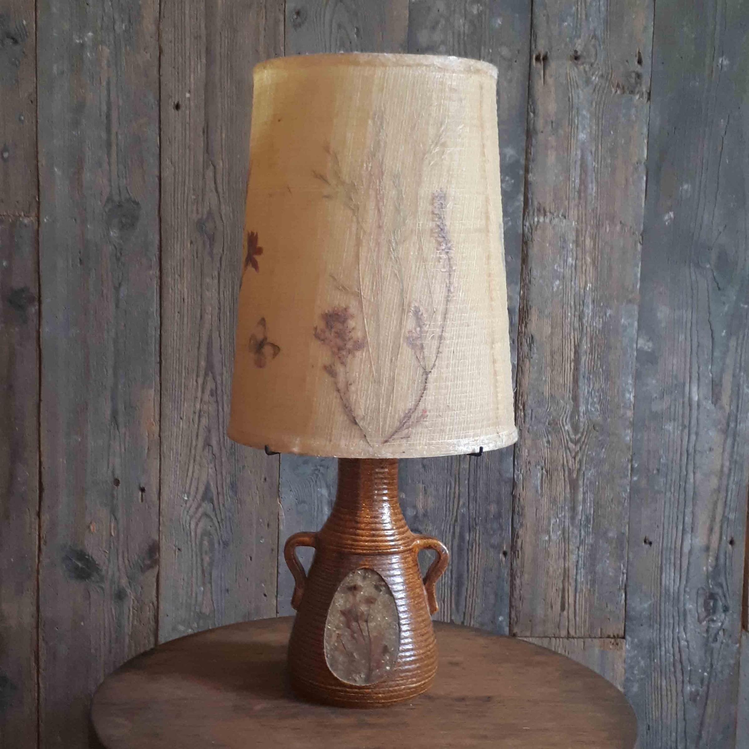 Accolay bruin keramische lamp met originele lampenkap