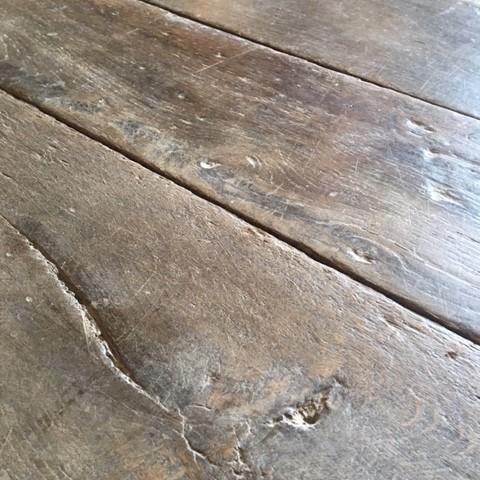 Antieke eiken houten vloer