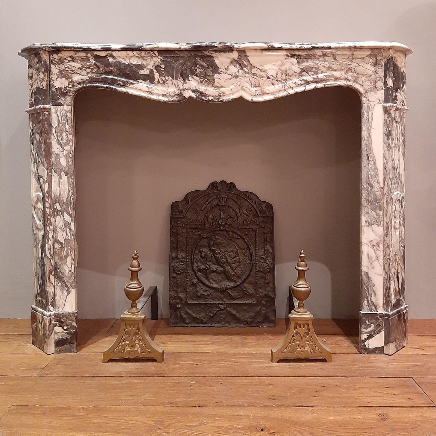 Antieke marmeren Pompadour schouw