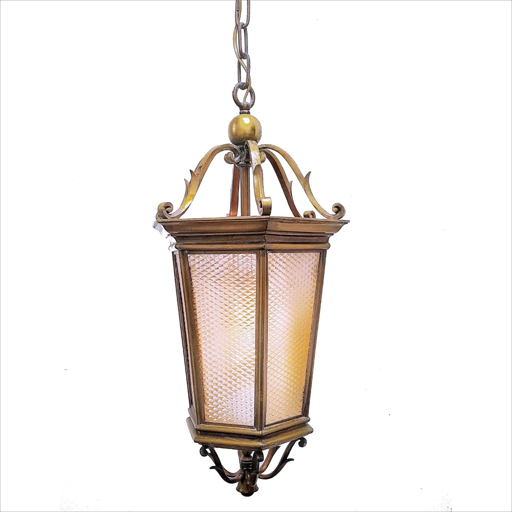 Antieke messing hal lantaarn
