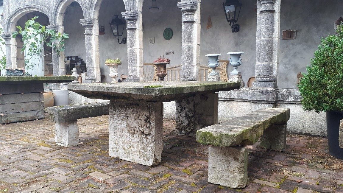 Garden tables and benches