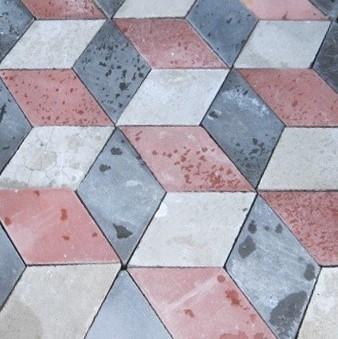 Art-deco cementtegels