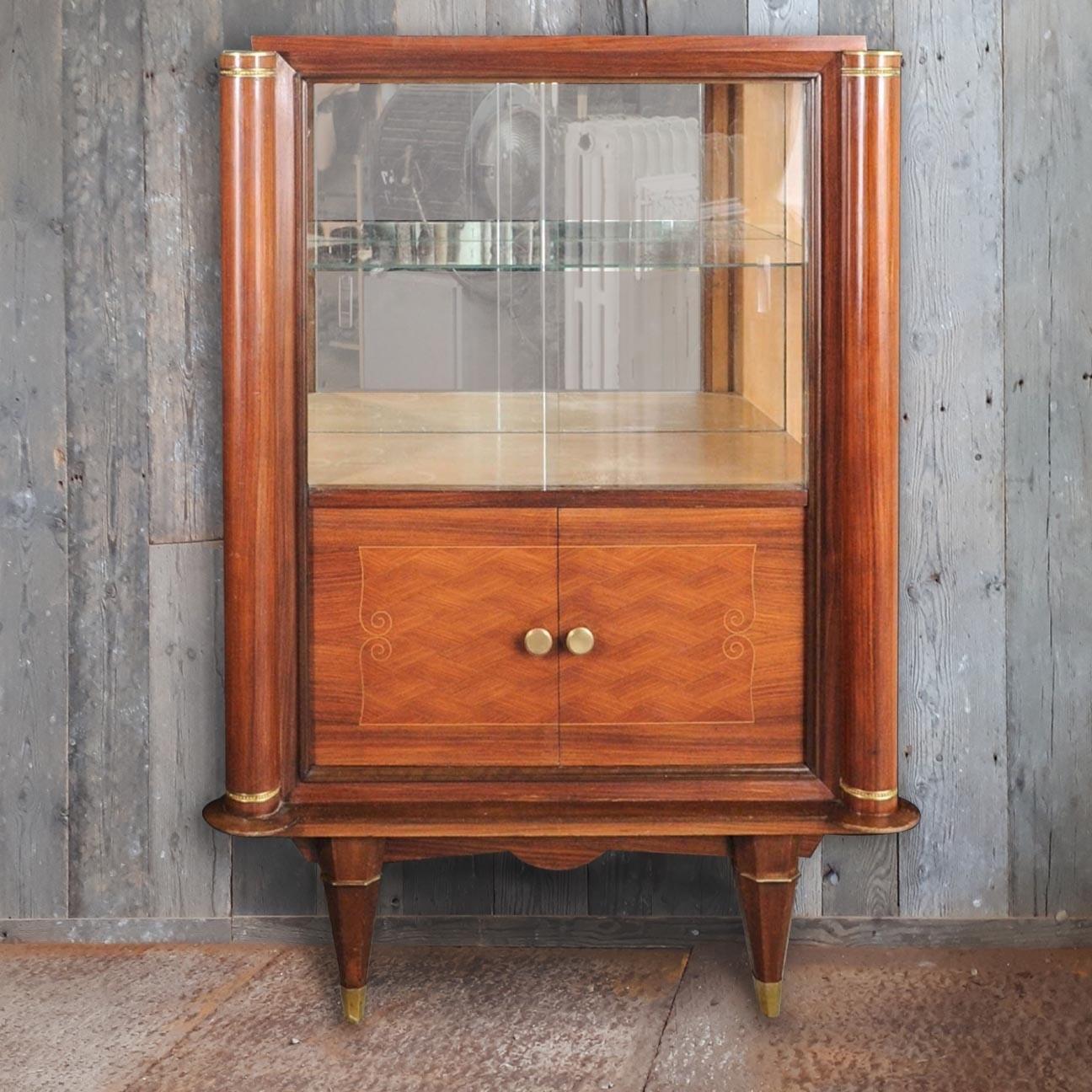 Art Deco vitrine kastje van Jules Leleu
