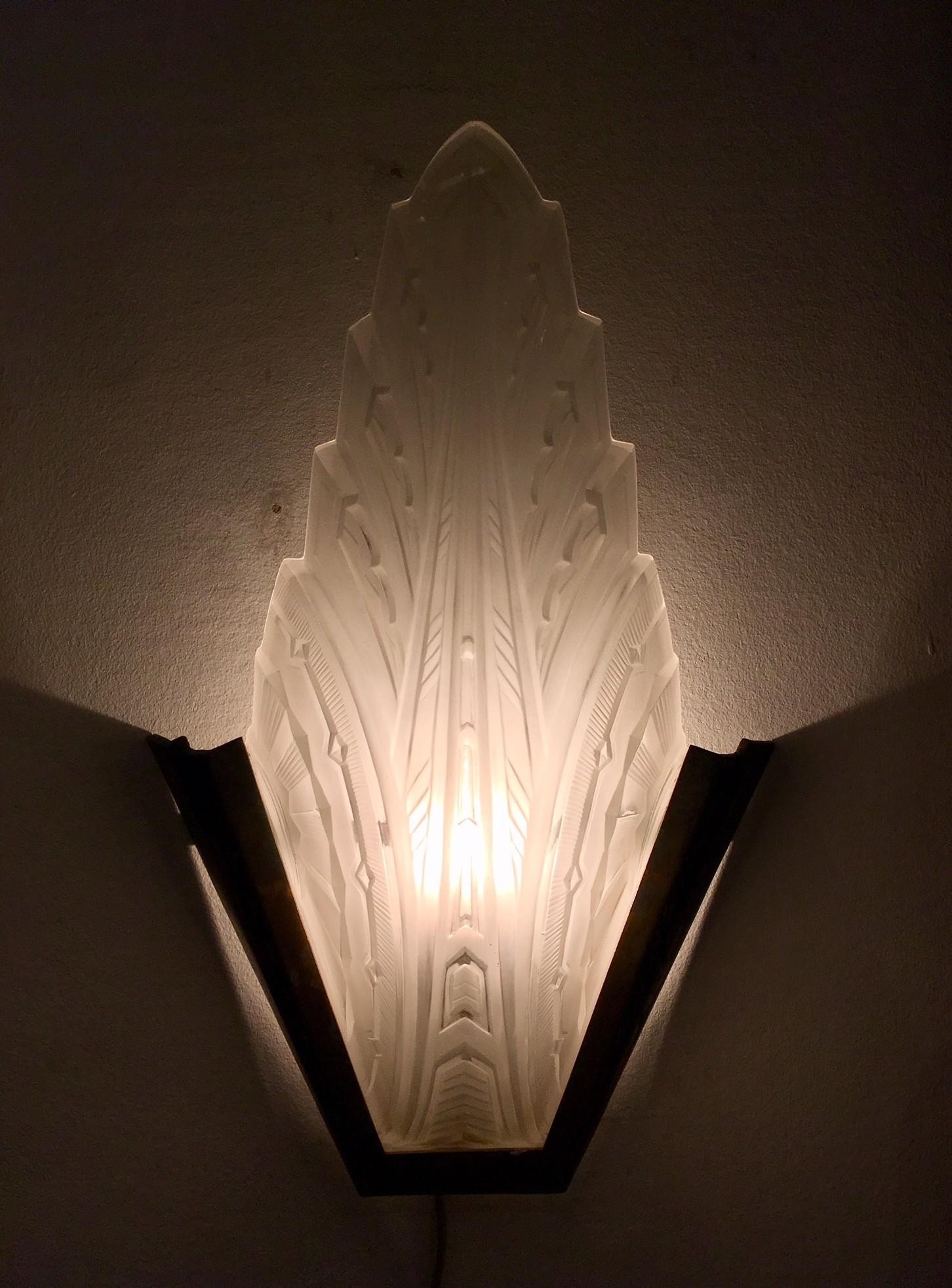 Art deco wandlampen van Hanots, 4 stuks