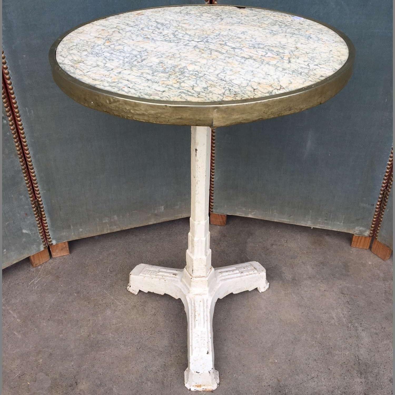 Tafel Met Marmeren Blad.Bistro Tafel Met Vert D Estours Marmeren Blad Met
