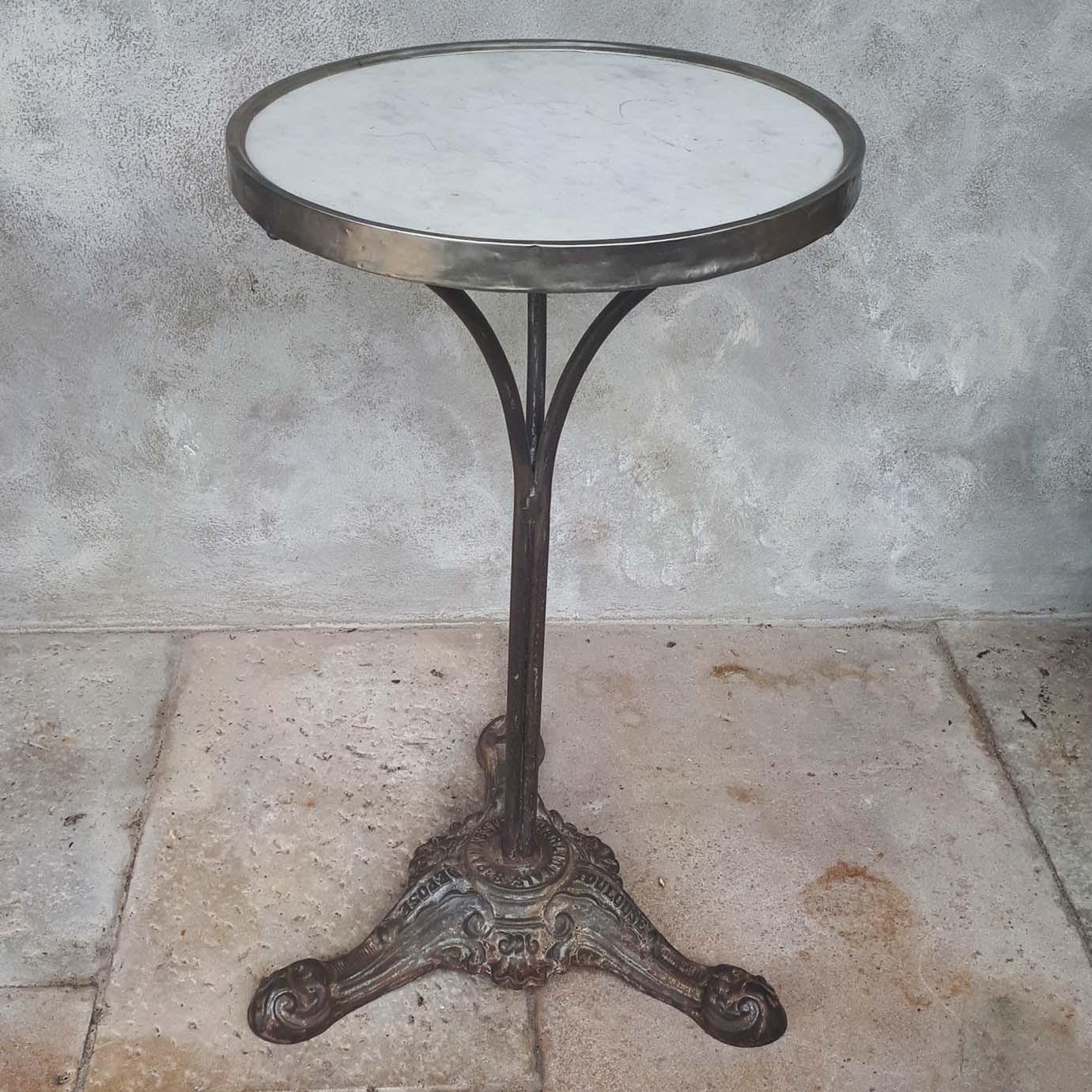 Antiek marmeren bistro tafel