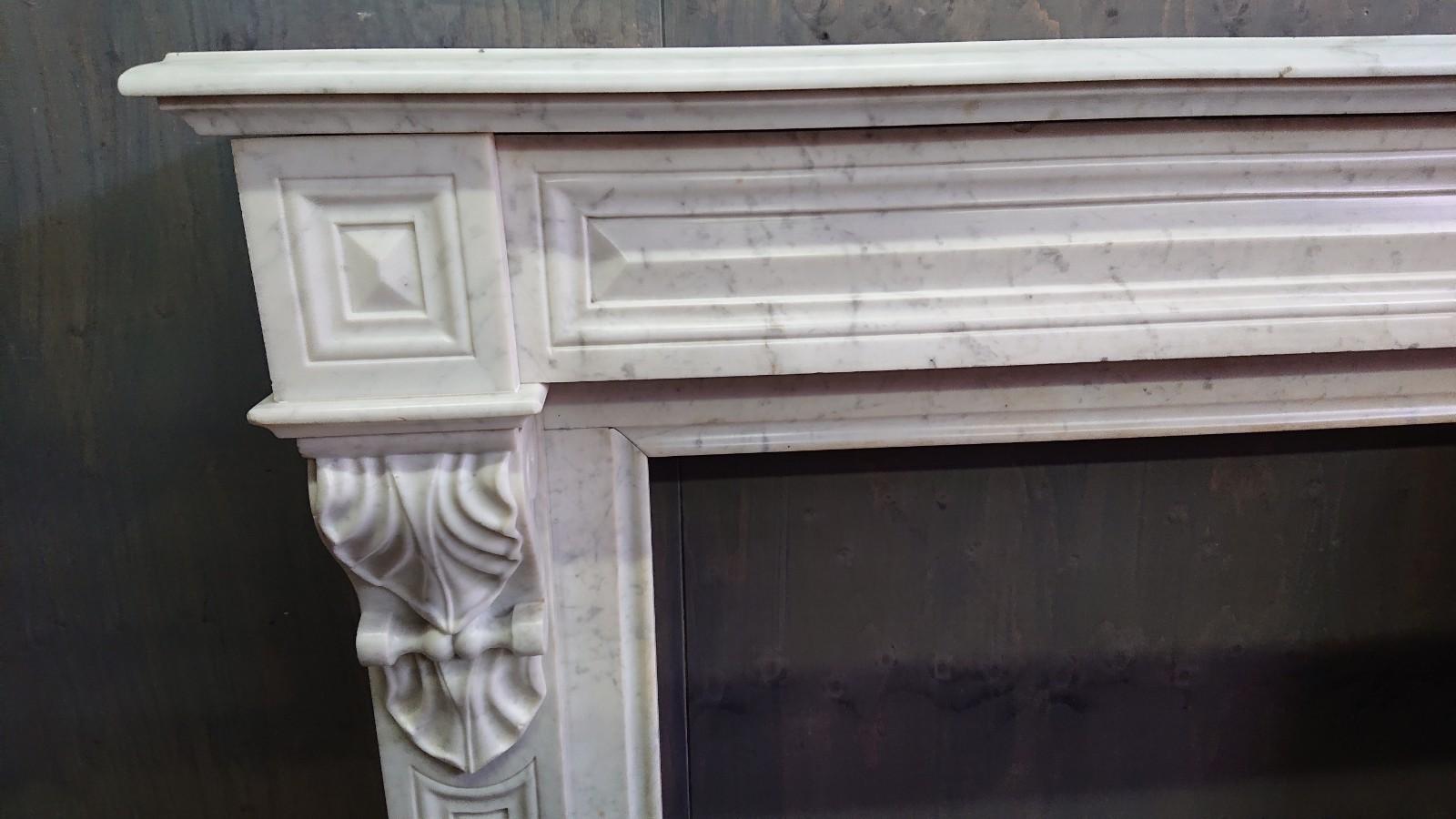 Carrara marmeren Modillion schouw