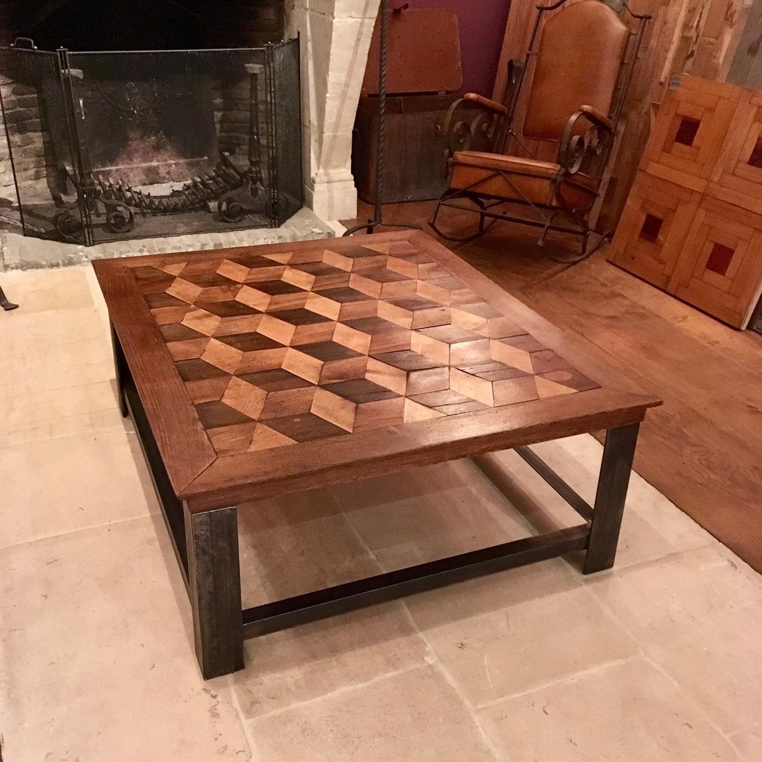 Prachtige Salon Tafel.Prachtige Salontafel Ingelegd Met Een Escher Motief