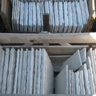 Oude Gekapte Carrara marmeren tegels 27 x 27 cm