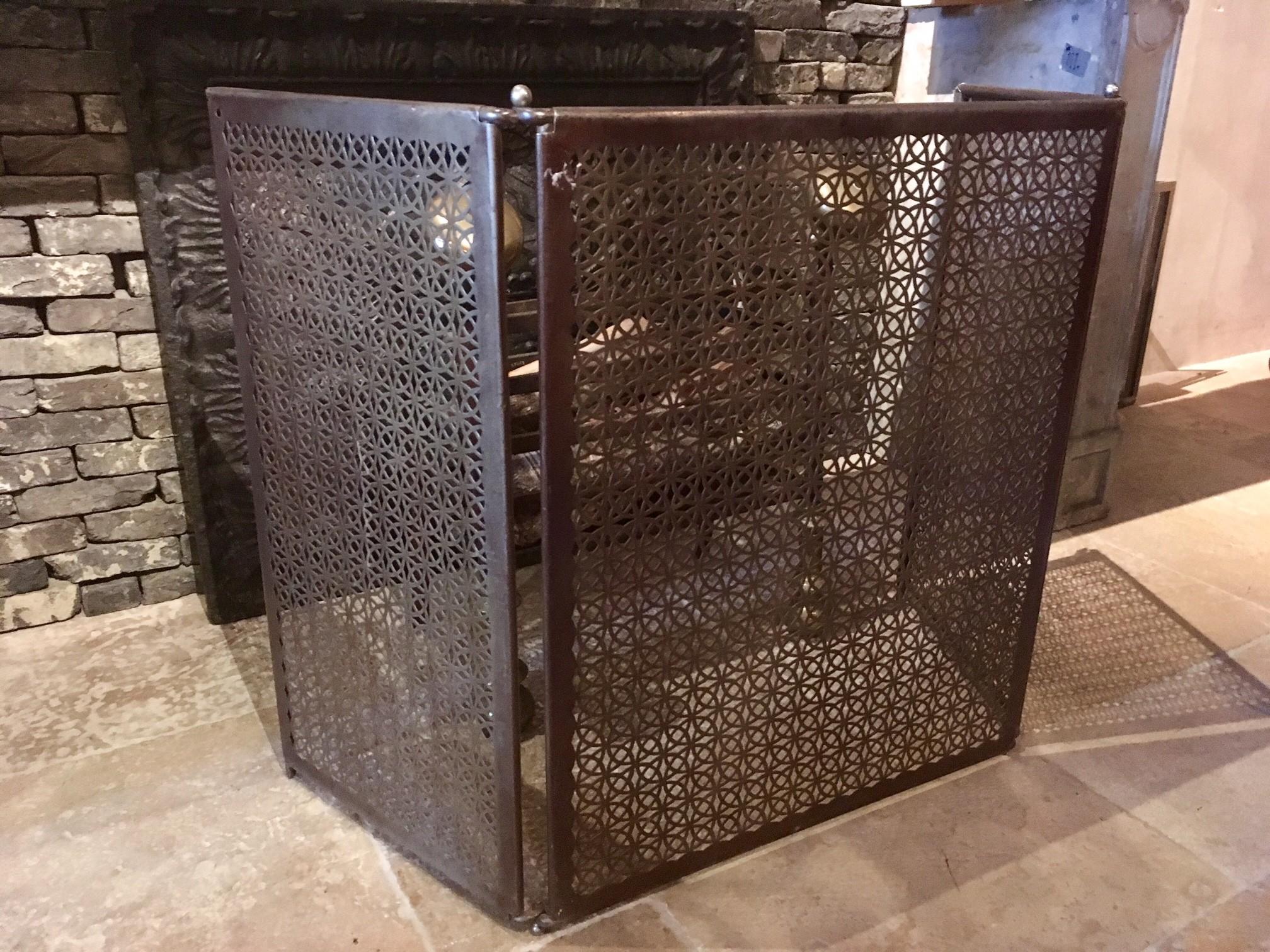 Decoratief metalen haardscherm