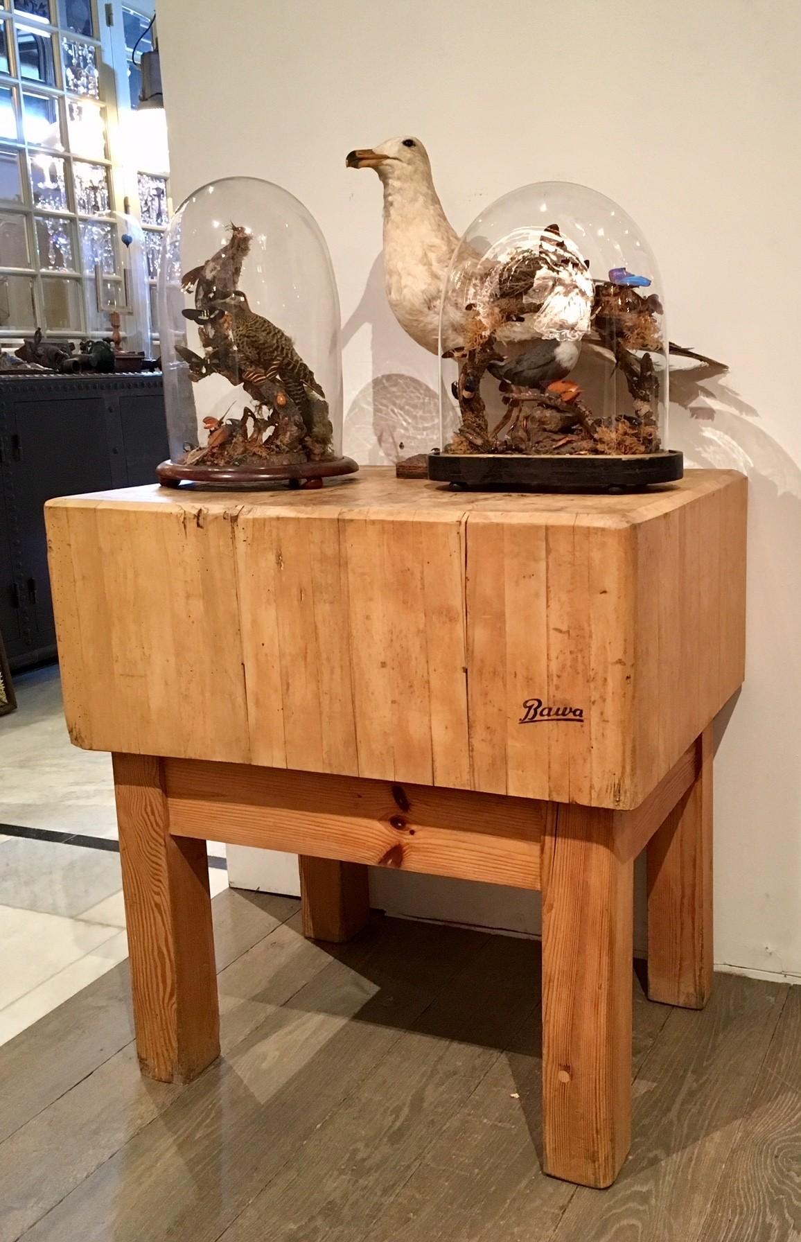 Oud hakblok als tafel