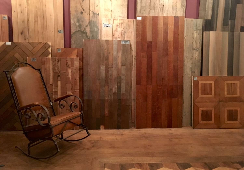 Grote collectie oude en antieke houten vloeren