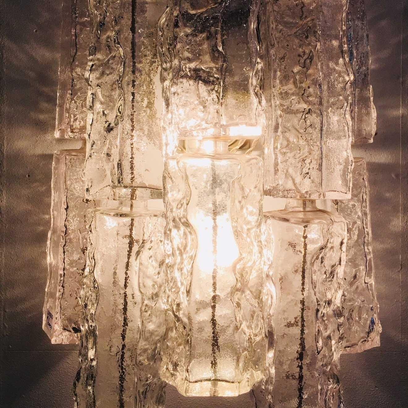 Paar jaren '70 ijspegel wandlampen