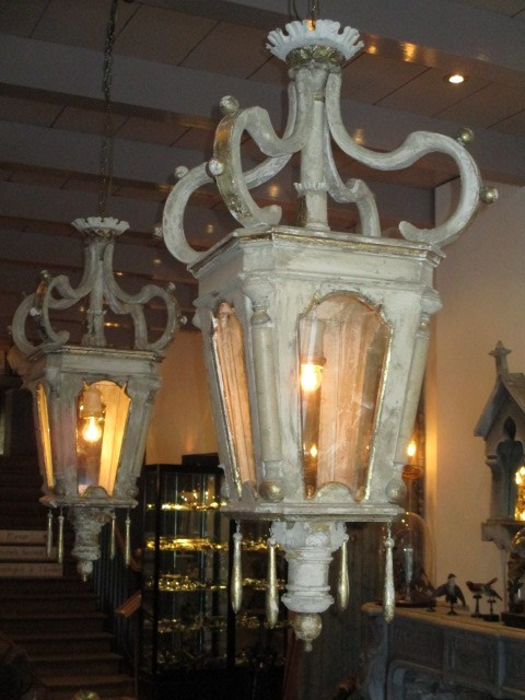 Stel houten lantaarns (verkocht)