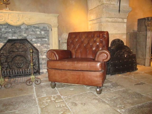 Wonderbaarlijk Stel bruin leren oude fauteuils - Stoelen en banken - Interieur SX-55