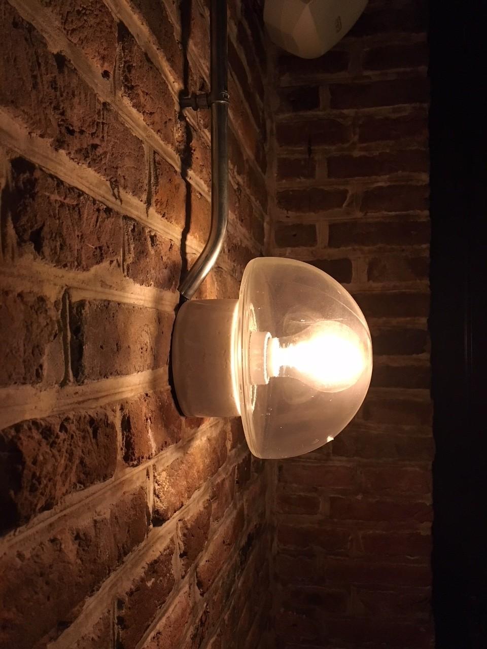 Oude fabriekspartij wandlampen