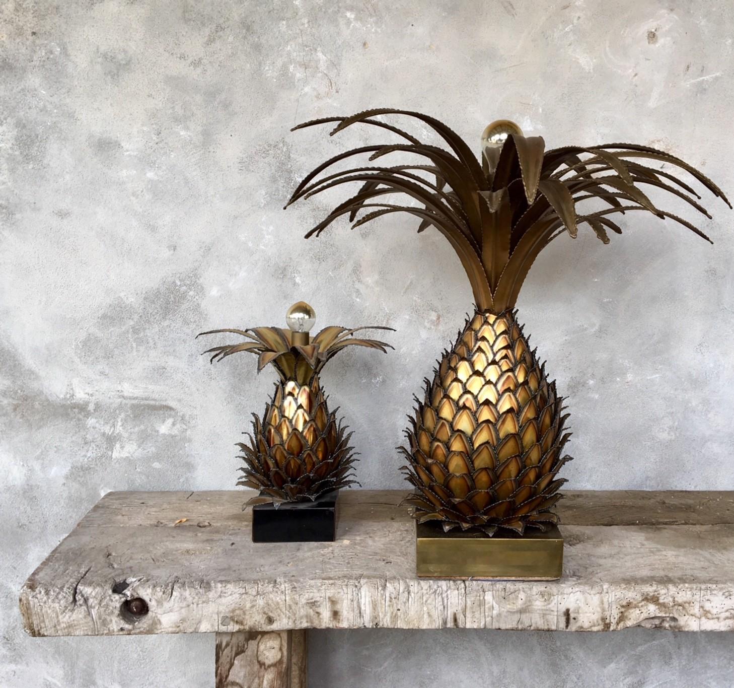 Grote Maison Jansen ananas lamp ( Verkocht )