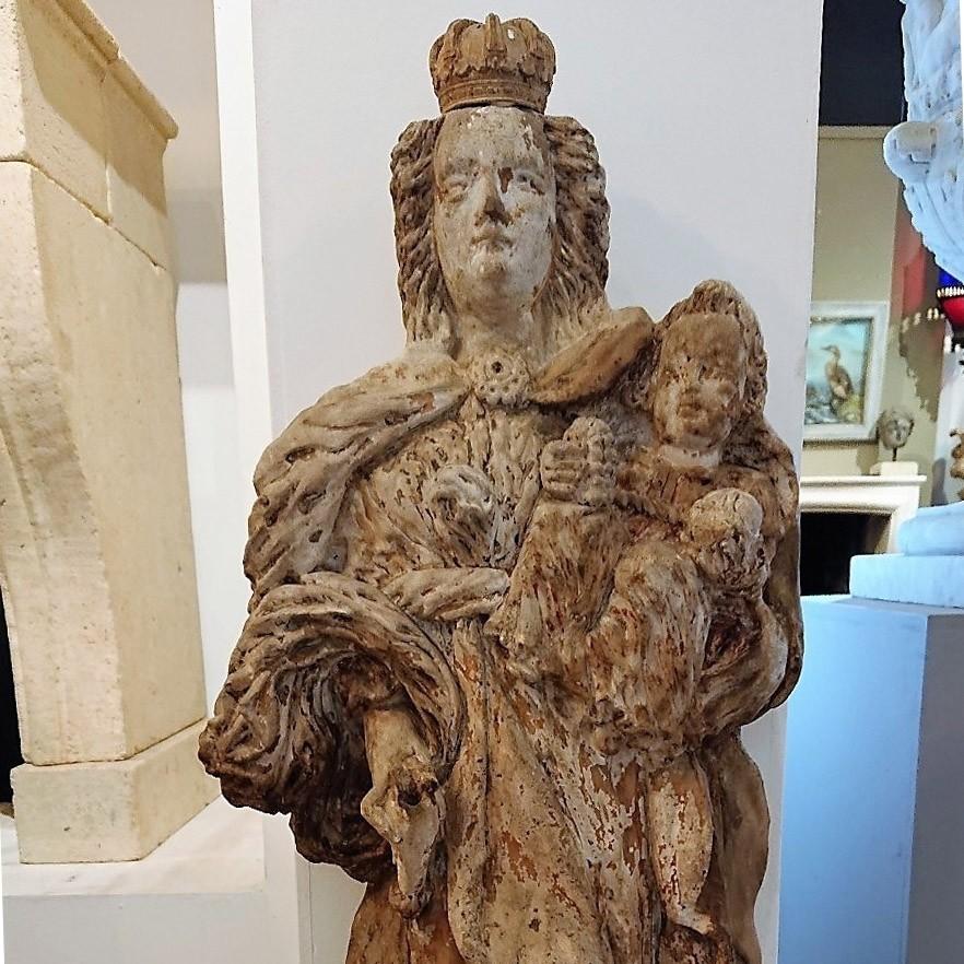 Antiek Maria beeld 17e Eeuws