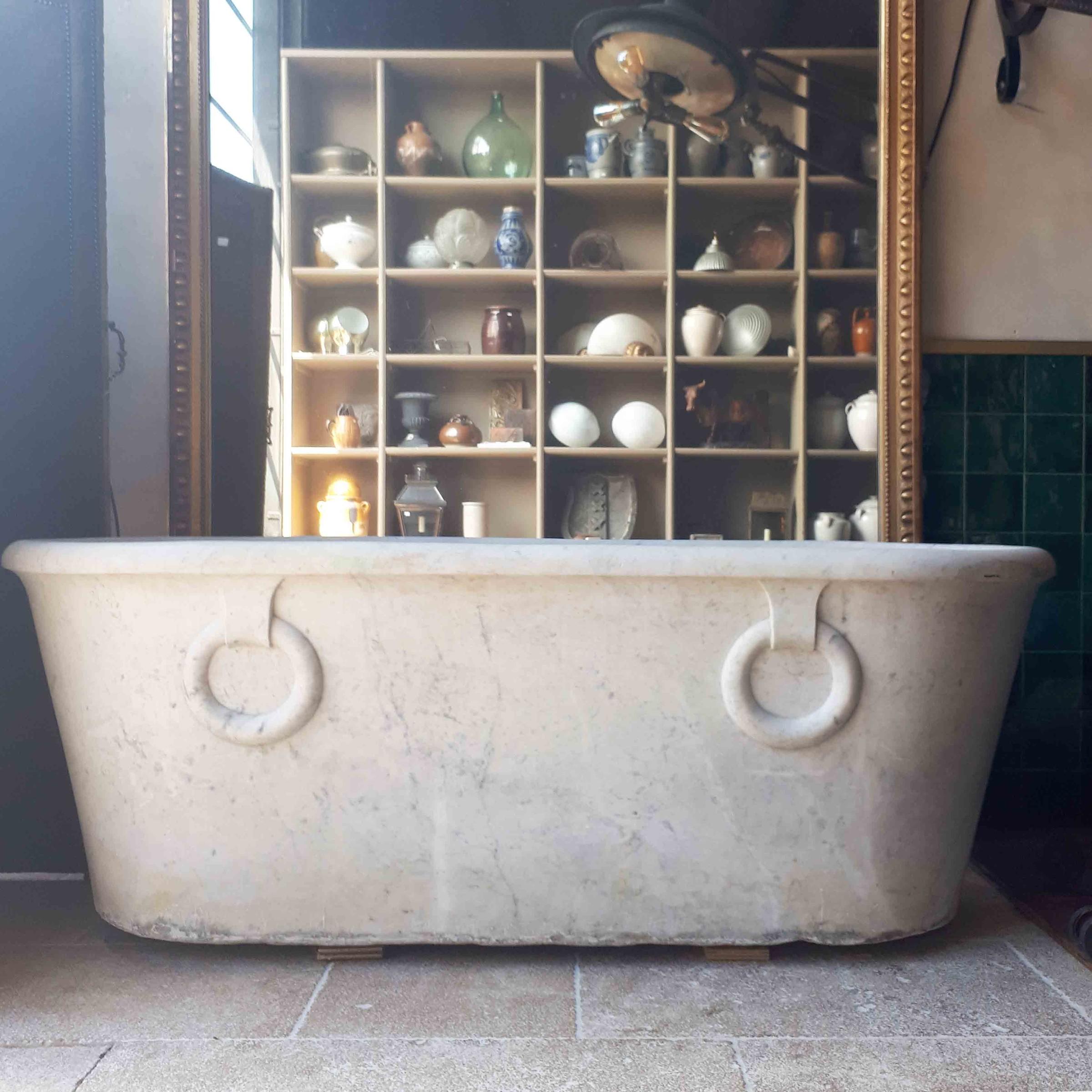 carrara marmeren bad in empire stijl vroeg 19e eeuw