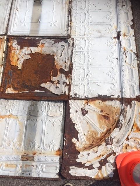 Oud stalen New York plafond