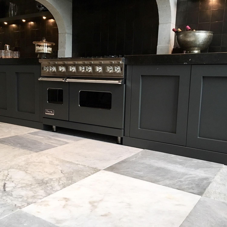 Prachtige oude Carrara marmeren vloertegels