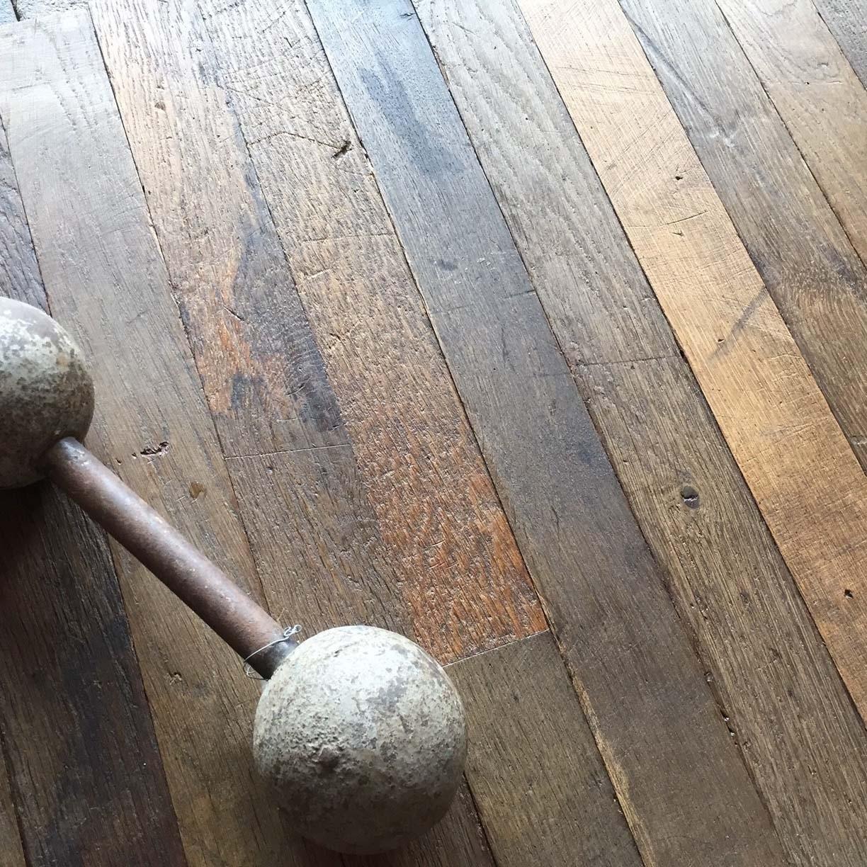 Oude eiken vloerplanken NYC loft style, grote partij aanwezig
