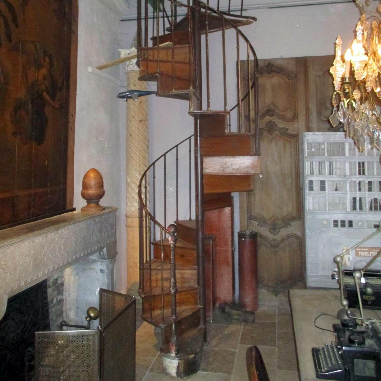 Antique oak spiral staircase  B. Gilardi