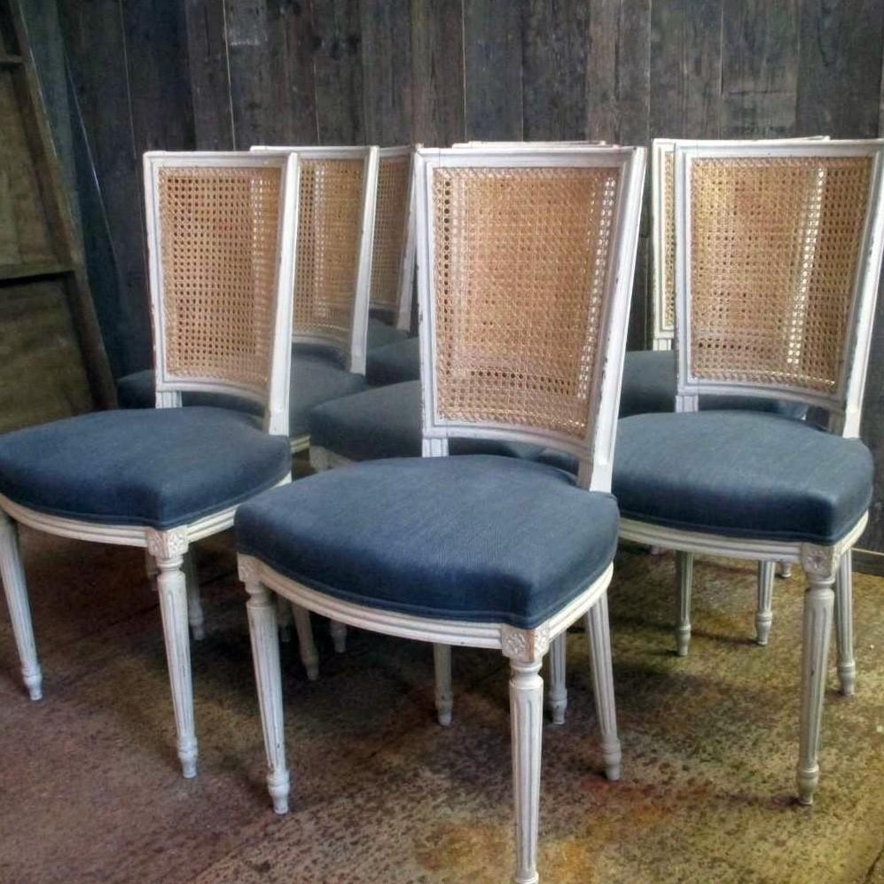 8 oude Lodewijk XVI stoelen