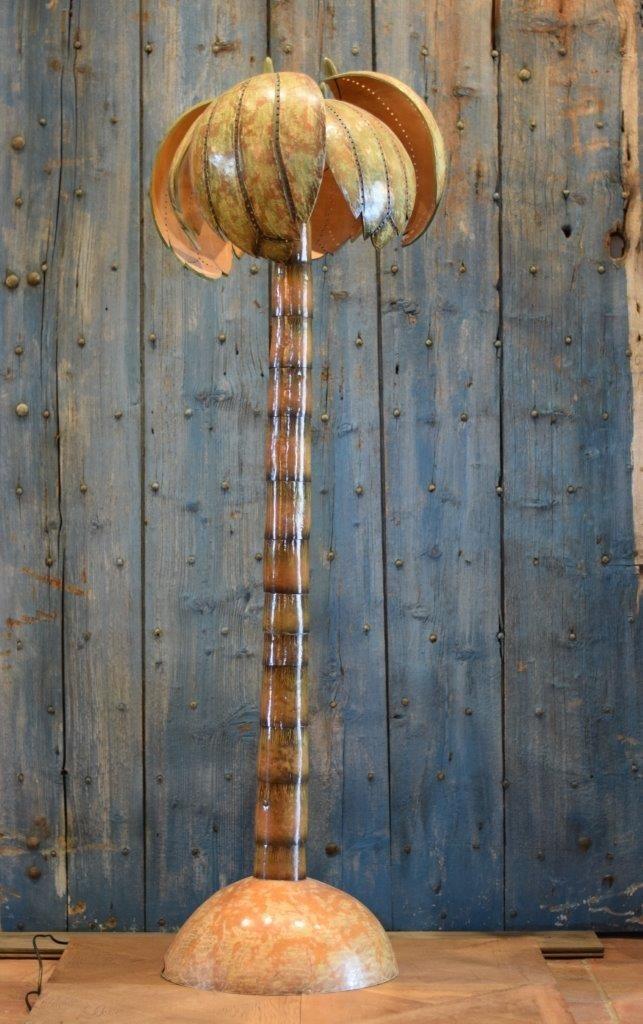 Jaren 70 design lamp in de vorm van een palmboom