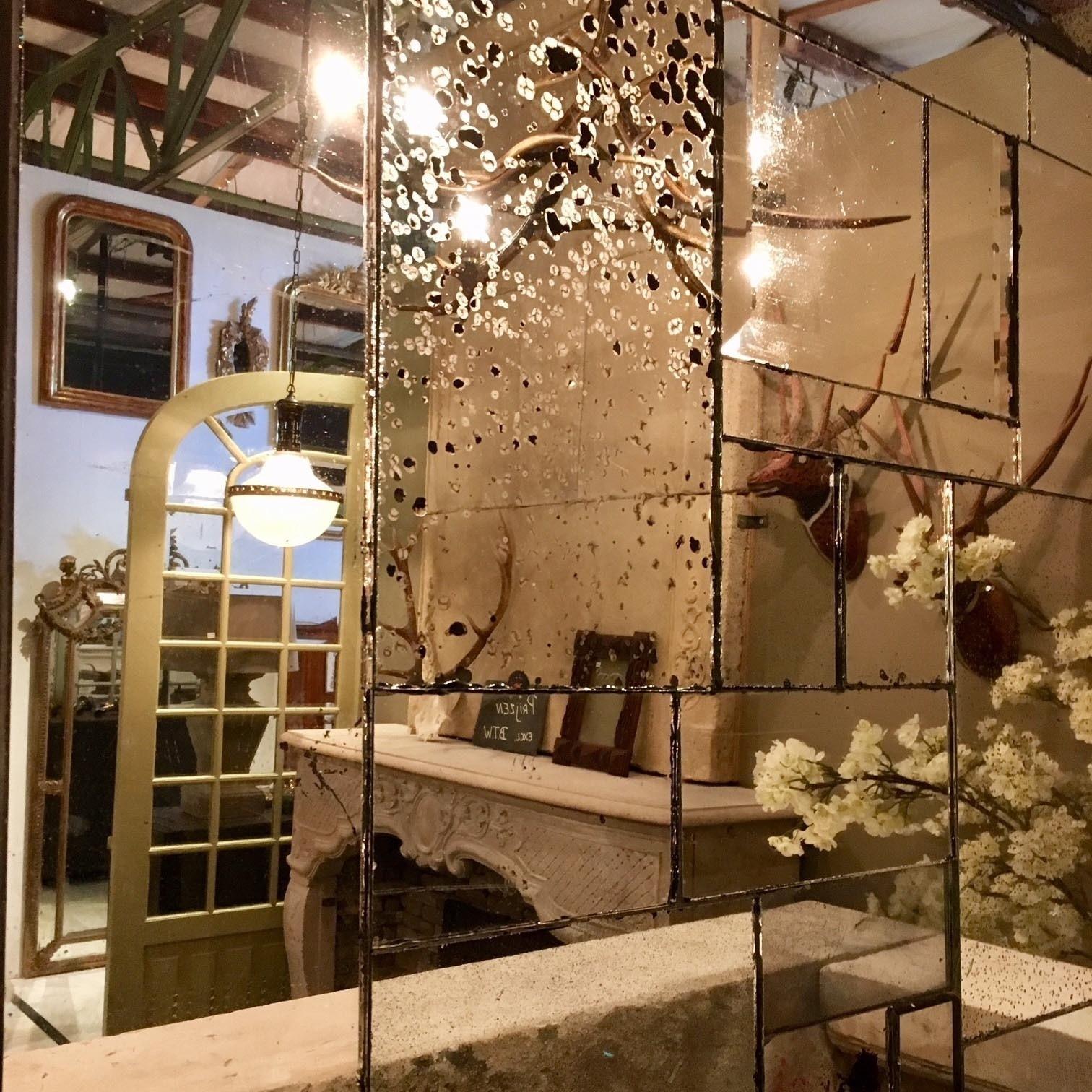 """Patchwork"" spiegel van oud spiegelglas"