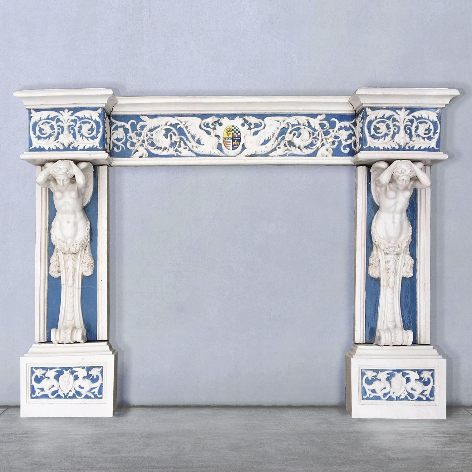 Cantagalli schouw 19e eeuw aardewerk Della Robbia stijl