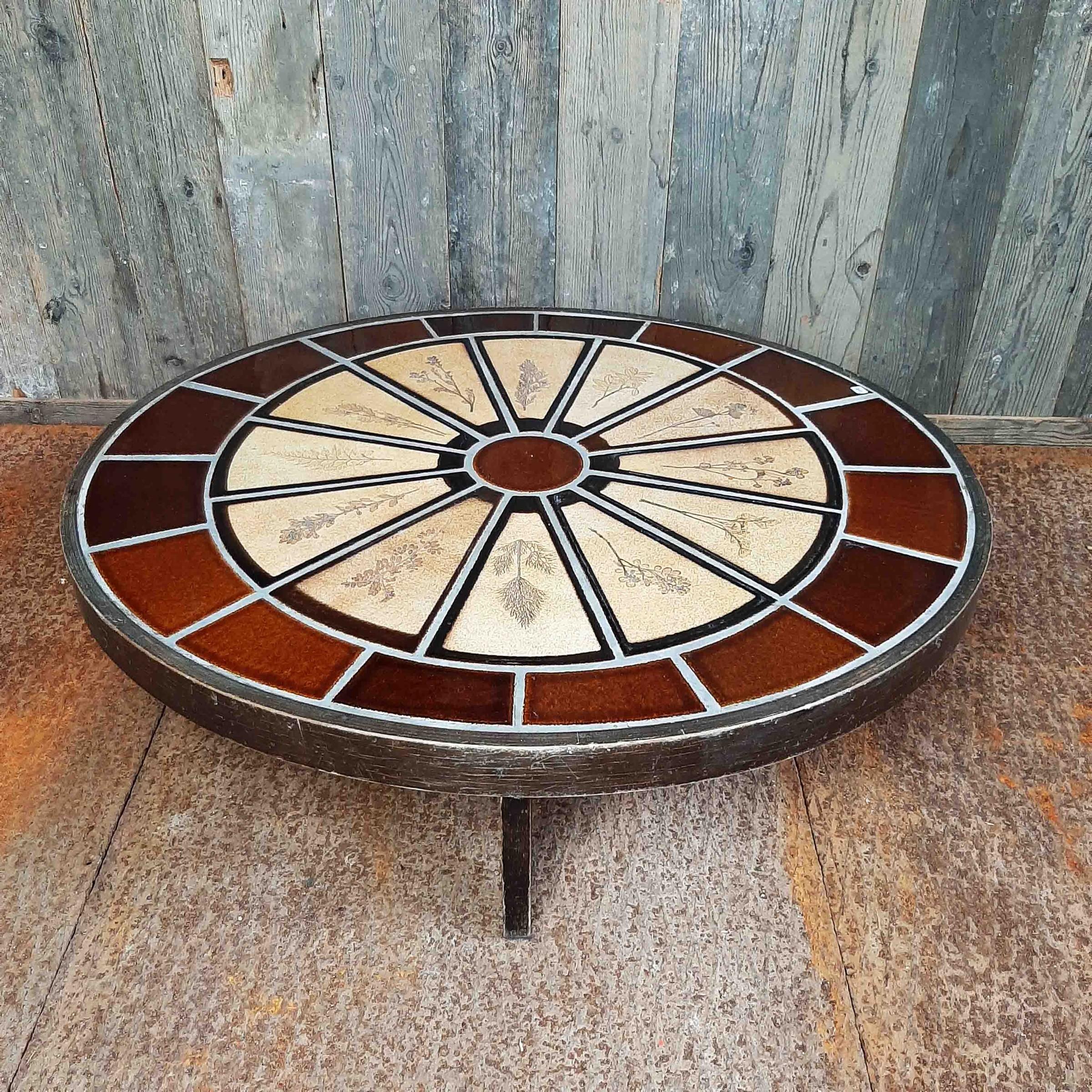 Roger Capron design ovale koffietafel uit de jaren '70
