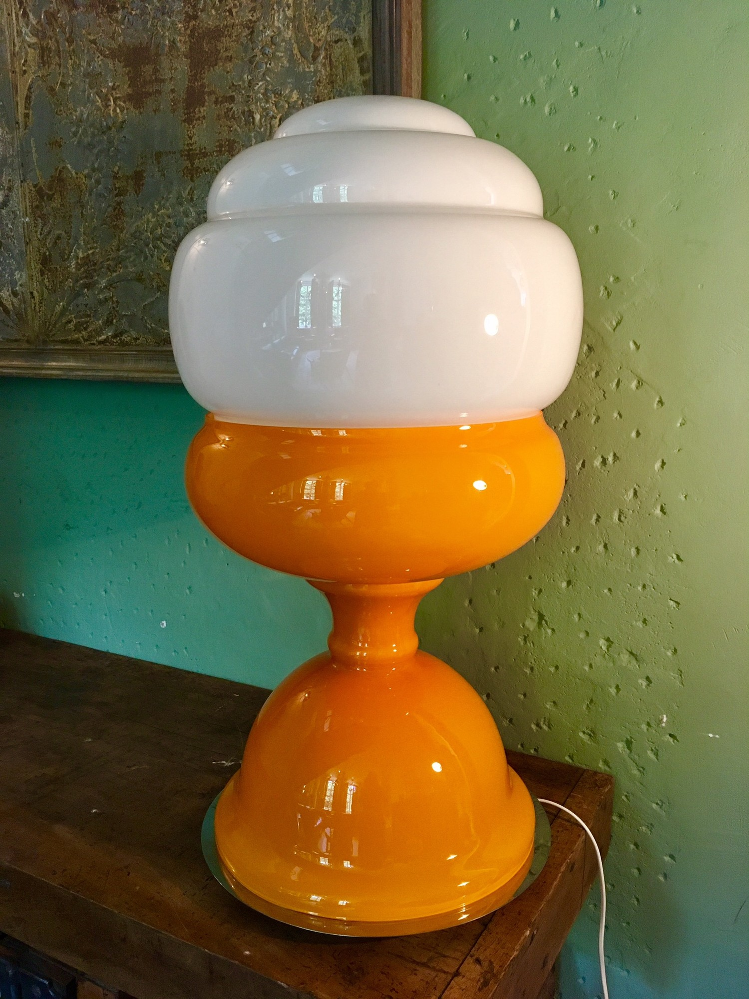 Grote Murano space age lamp van Carlo Nason