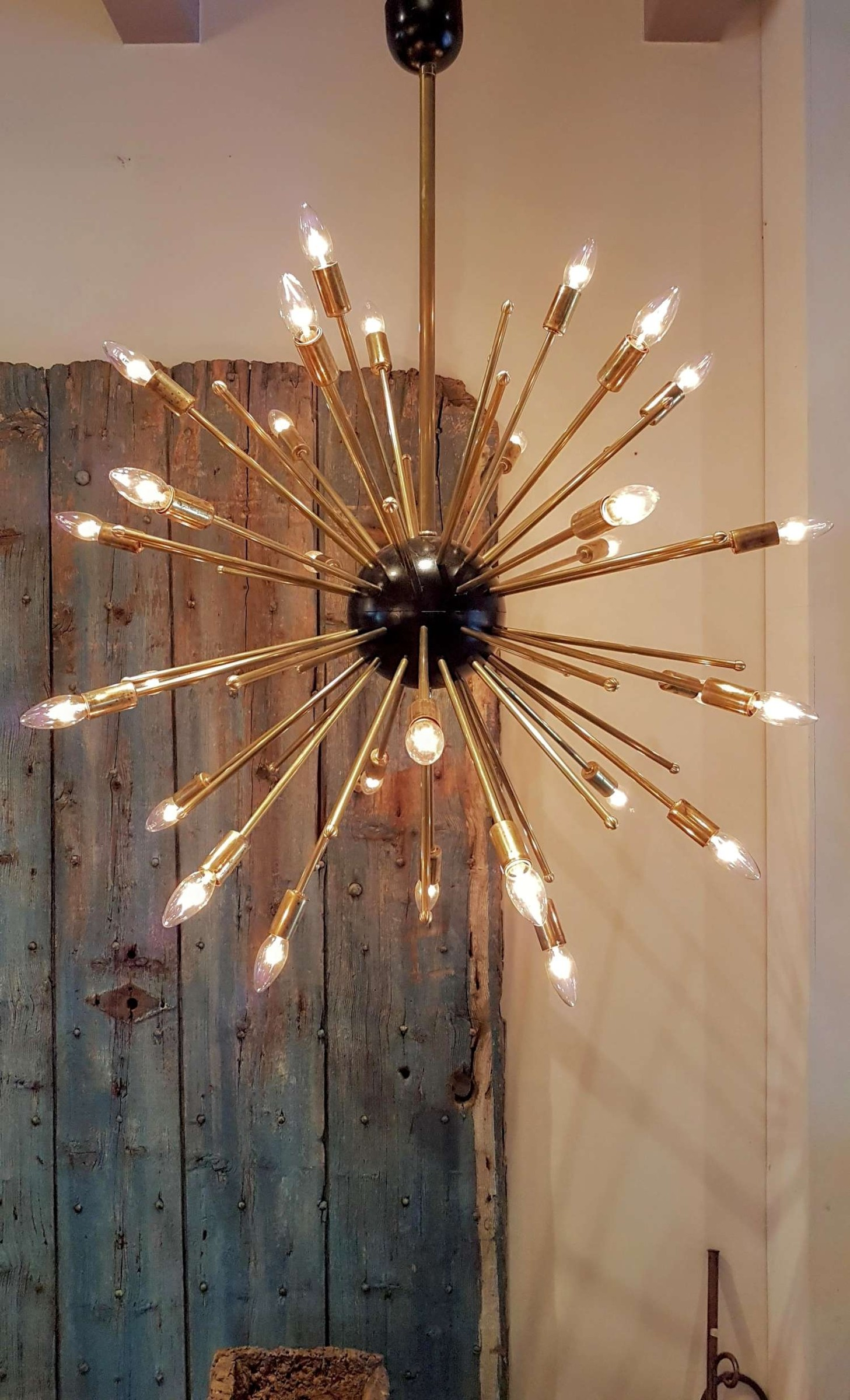 Oude messing Spoetnik lamp