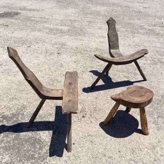 Wabi Sabi stoeltjes en bijzet tafeltje