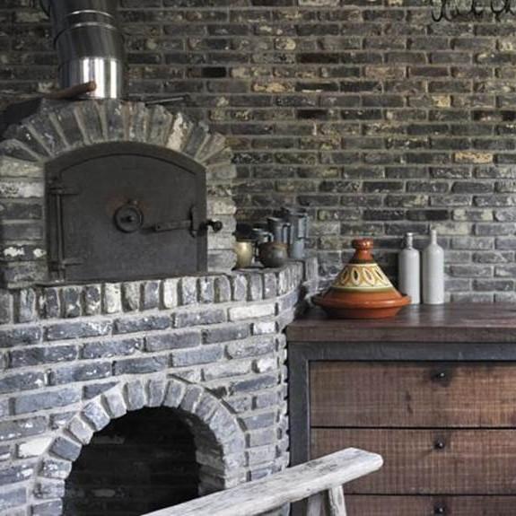 Wand van oude metselsteentjes