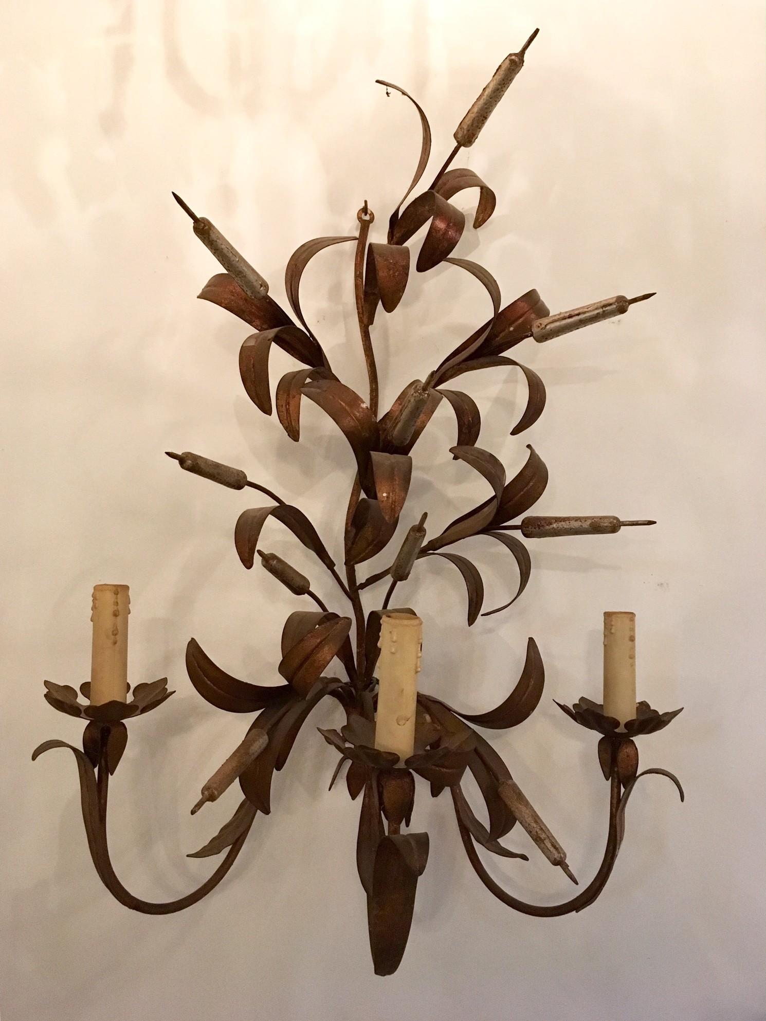 Wandapplique gedecoreerd met korenaren