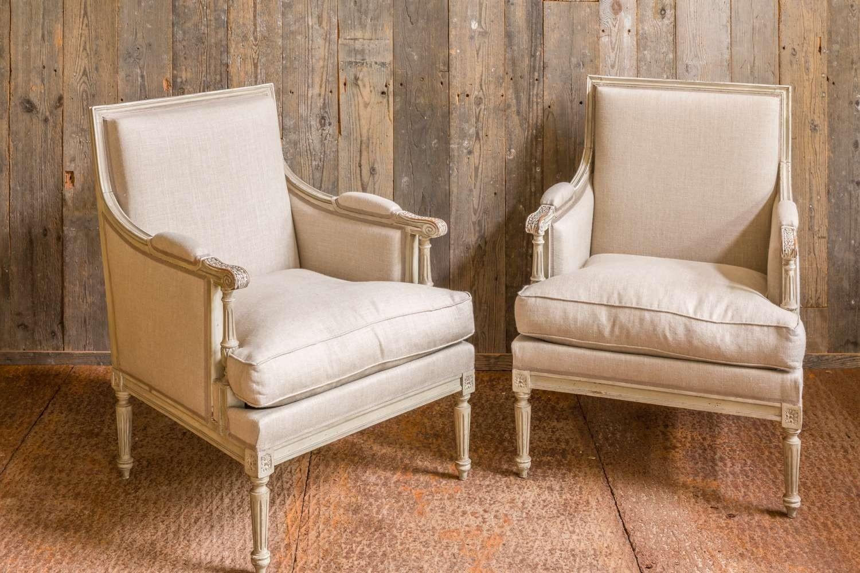 Stel gerestaureerde stoelen