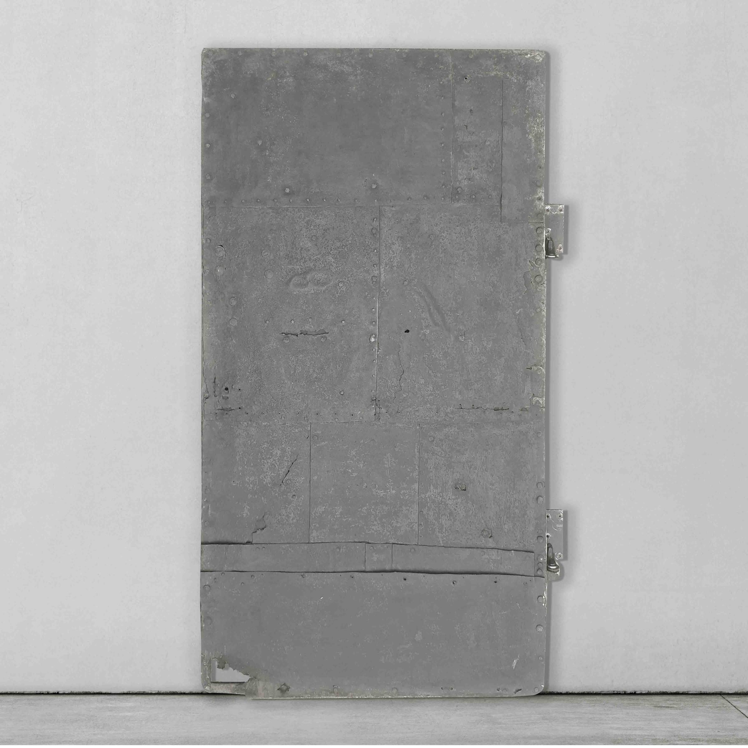 Antieke stalen deur