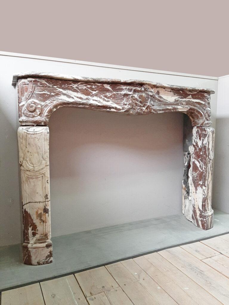 18e-eeuwse-louis-xiv-marmeren-schouw